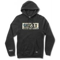 Grizzly Trail Map Box Logo Hoodie, Black