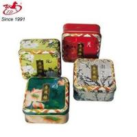 Quality small square tin box for cake, mooncake, tea for sale