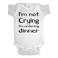 China I'm Not Crying I'm Ordering Dinner One-Piece Baby Onesie Bodysuit on sale