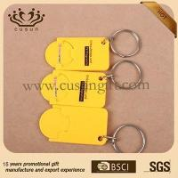 China plastic euro coin keychain on sale