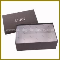 Buy cheap custom shoe box with lid from wholesalers