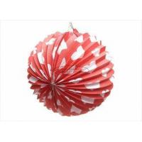 Buy cheap 25cm Red Heart Custom Printed Paper Lanterns Accordion , Multi Coloured Paper Lanterns from wholesalers