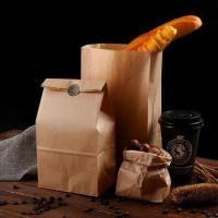 China Recyclable food grade wax Roll Kraft paper Bag Wax Coated Paper Bag Food on sale
