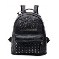 Quality Punk Rivet and Skull PU Lady Casual Backpack for sale