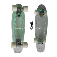 Buy cheap LED Lights PC Transparent Plastic Penny Skateboard from wholesalers
