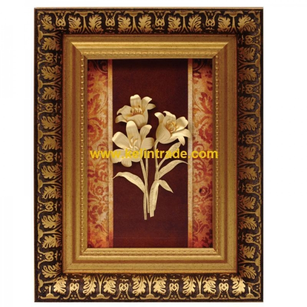 Buy 3D gold foil flower collection frame best home deoration at wholesale prices