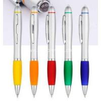 China Plastic Ball Pen Contour Ballpoint Pen with LED Light on sale