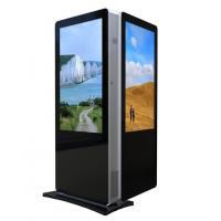 China 55 inch - dual screen high brightness floor standing advertising display monitor on sale