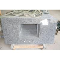 China Discount Concrete Ice Blue Granite Bathroom Vanity Tops with Double Sinks and Single Sink on sale