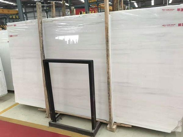 Faux Bianco Pearl Start Dolomite White Marble Slabs In