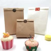 Tip bottom paper bag High Quality Kraft Paper Bread Bag with Window