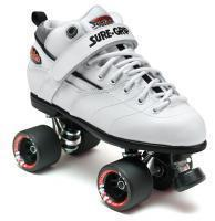 Quality Roller Skates Sure-Grip Rebel Fugitive Roller Skates - White Boot for sale
