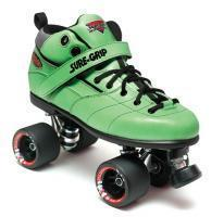 Quality Roller Skates Sure-Grip Rebel Fugitive Roller Skates - Green Boot for sale