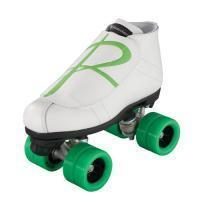Quality Roller Skates Riedell 796 White Hybrid Jam Skate - Green for sale