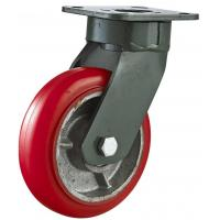 Quality Korean Style Iron Corn Extra Heavy Duty PU Caster for sale