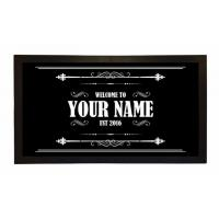 Quality Custom Printed Bar Runner Welcome To Your Name's Bar Drip Spill Mat for sale
