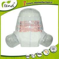 China Plastic Back PE Film Adult Diapers Incontinence Nappies with PP Tape on sale