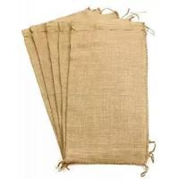 Quality Flood Bags Gunny Sand Sacks Jute Burlap Sand Bags Self-tie with Non-woven on Large Size for sale