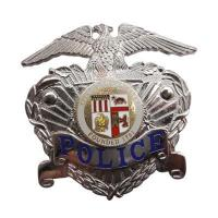 Quality Silver US Eagle Police Badge 3D for sale