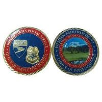 Quality Police Office Printing Photo Design 3D Metal Challenge Coins for sale