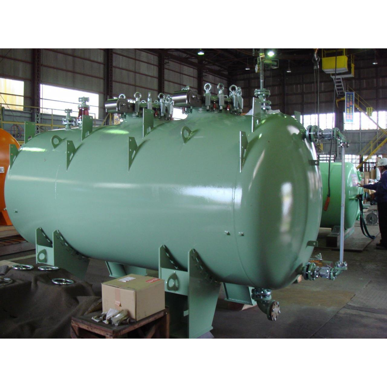 Quality 15000L F type Glass Lined Chemical Storage Tank , Steel Pressure Vessel Tank for sale