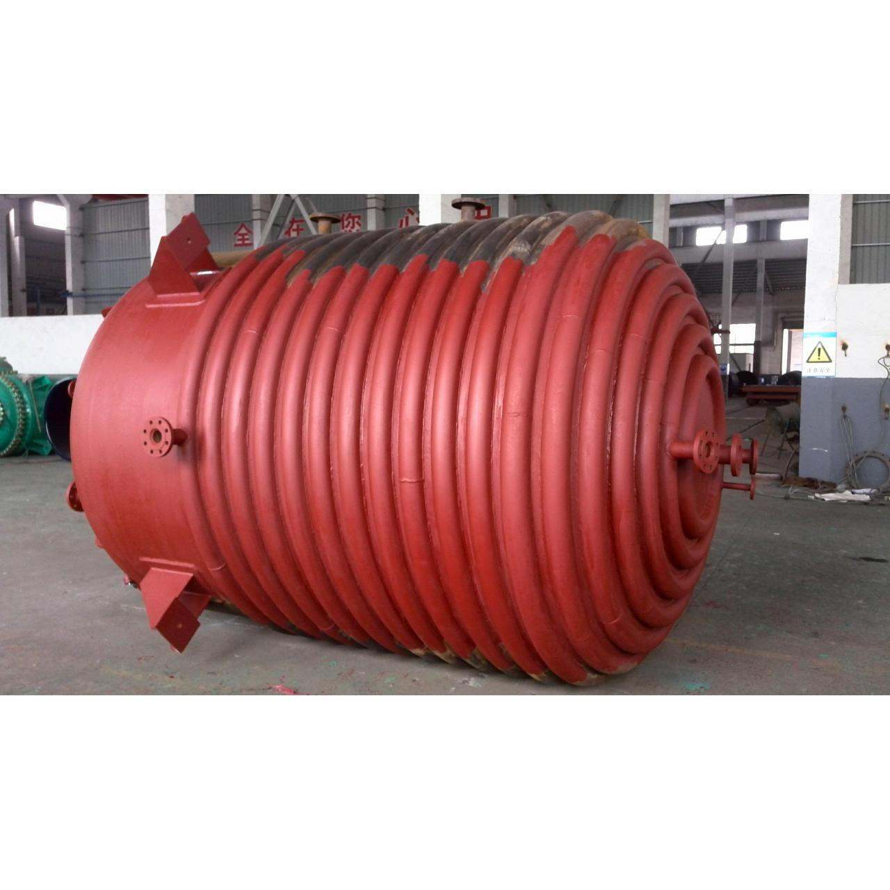 Quality Q245R GT 2000L Half Pipe Jacketed Vessel with German wendel enamel for sale