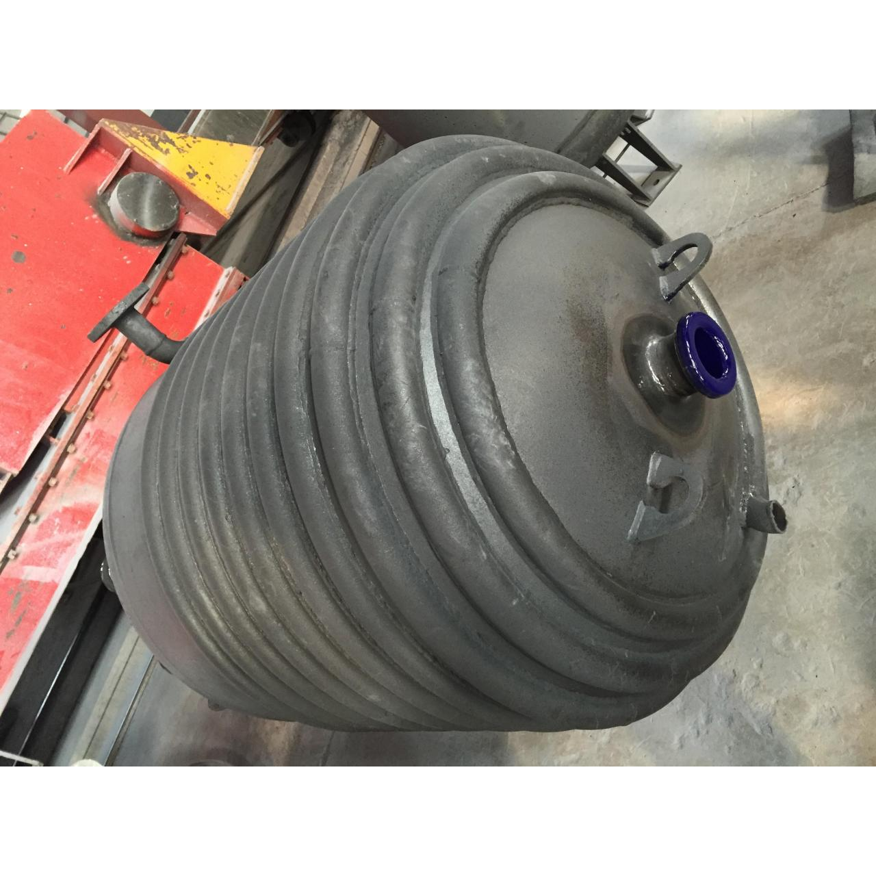 16mm Vessel thickness Glass Lined Reactors vessel equipped with agitation device