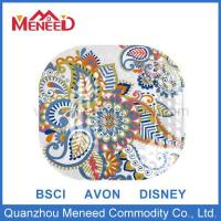 Quality Melamine Plate Square shape full printing melamine colorful 9 inch plate for sale