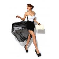 Quality Women Solid Straight Short Chiffon Polyester ... for sale