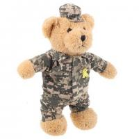 Buy cheap Standing plush teddy bear with camouflage clothing from wholesalers