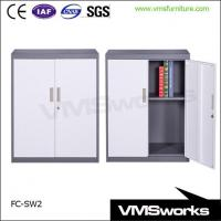 China Half Height Sliding Door Metal Office Storage Cabinets on sale