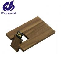 China High Quality Eco-friendly Wooden Credit Card USB Flash Drive with Custom Logo on sale