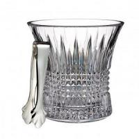 Quality Lismore Diamond Ice Bucket with Tongs for sale