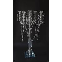 Quality Silver Candelabra With Crystals for sale