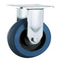 Buy cheap N841 Mold on rubber fixed heavy duty cast iron rubber caster from wholesalers