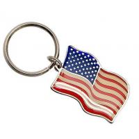Buy cheap Metalproducts Flag keychian from wholesalers