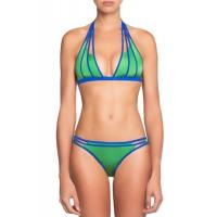 Quality Big Sale Green Strappy Cut-out Halter Neck Bikini for sale