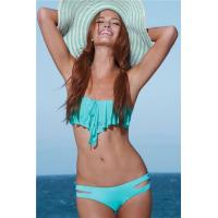 Quality Big Sale Green Flounced Bandeau Top with Crotchless Panty for sale