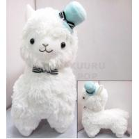 Quality Hat & Bow Alpaca Plush - White for sale