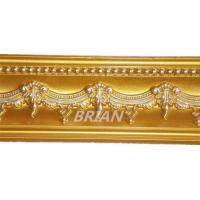 China color painted PU Carving Cornice Moldings for ceiling and wall decoration on sale