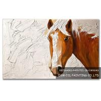 Quality Number:OSM-An10006Modern OriginalAbstract OilpaintingsHorse on canvas for sale