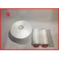 China Polyester Staple Fibre Raw White Yarn On Dying Plastic Tube High Tension on sale