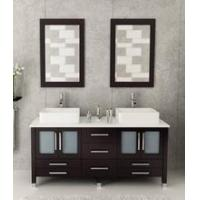 Buy cheap 72 inch double vanity cabinet with mirror & faucet from wholesalers