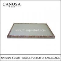 Quality Hotel Resin Amenity Tray with Pink Shell for sale