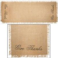 """Quality 36"""" Give Thanks Burlap Runner (13x36"""") for sale"""