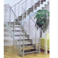 Quality A116 wrought iron / glass/ steel /PVC handle staircase spiral / straight /Arc / staircase indoor for sale