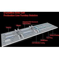 Quality Crystalline Solar Cell Production Line Turnkey Solution for sale