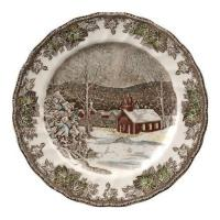 Quality Accent Plates Johnson Brothers Friendly Village 10-Inch Dinner Plates, Set of 4 for sale