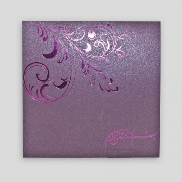 Buy XMT-C036 purple foil stamping greeting card & envelope printing at wholesale prices