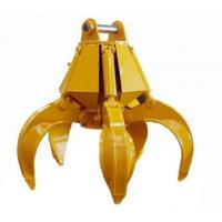 Buy cheap Excavator thumb bucket for sales grapple bucket attachment excavator grab bucket from wholesalers